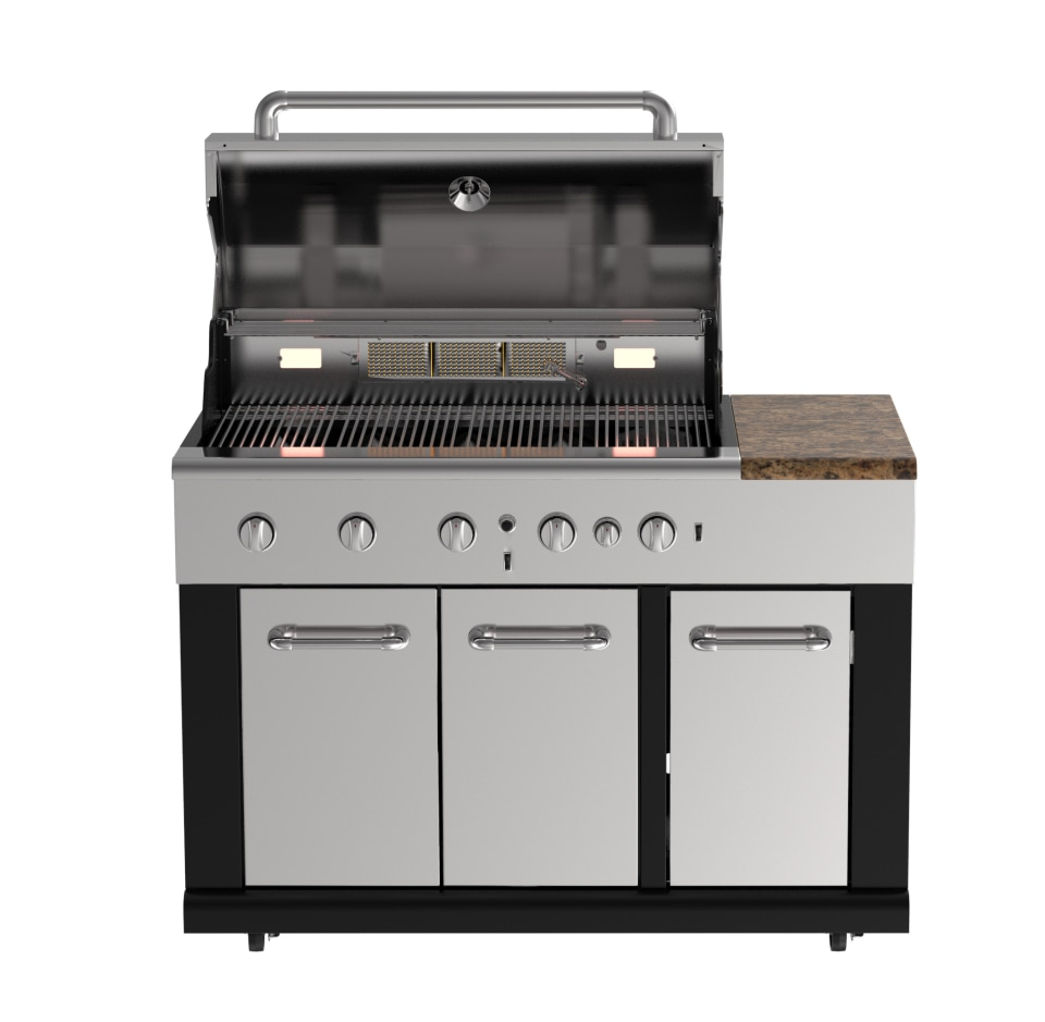 Master Forge Bg179a 47 49 In W X 28 46 In D X 48 03 In H Outdoor Kitchen Gas Grill With 5 Burners In The Modular Outdoor Kitchens Department At Lowes Com