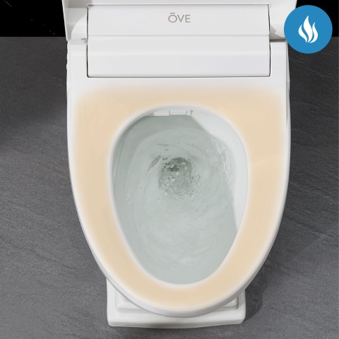Intelligent heated seat with soft-close system