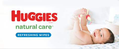 Learn more about Huggies Natural Care Refreshing scented baby wipes below.