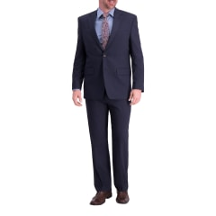 J.M Haggar Mens Sharkskin Premium Classic-Fit Stretch Suit Separate Coat