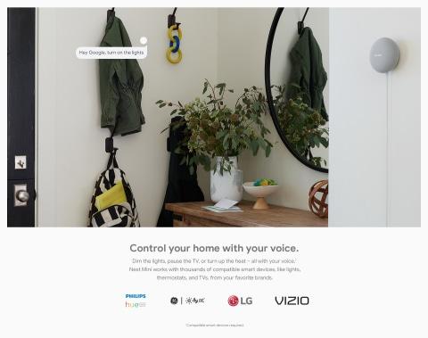 Controle su hogar con su voz (se requieren dispositivos inteligentes compatibles).