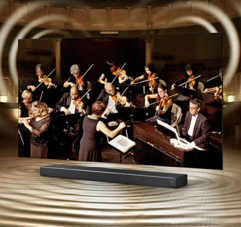 TV and soundbar orchestrated in perfect harmony - Q-Symphony