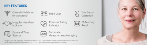 Key Features of the A&D Medical UA-767F Blood Pressure Monitor