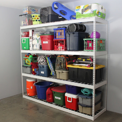SafeRacks Garage Shelving is strong enough for industrial use.