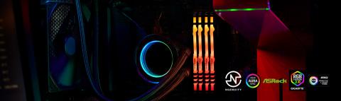 Iluminación personalizable RGB con estilo audaz1