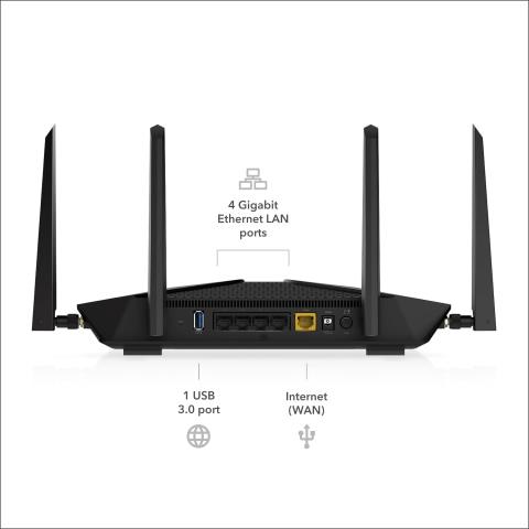 NETGEAR - Nighthawk RAX45 AX4300 Wi-Fi 6 Router | Costco | Gear Router Wiring Diagram |  | Costco Wholesale
