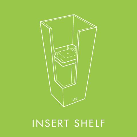 Insert Shelf Included