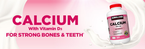 Calcium with Vitamin D3 For strong bones and teeth