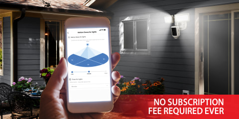 Upgrade exterior lighting to a flexible and affordable home security system