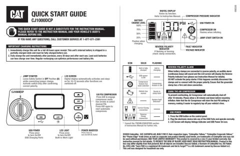 View CJ1000DCP Quick Start Guide PDF
