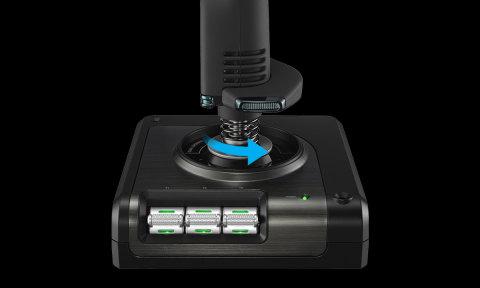 Joystick 3D Twist Rudder Controls
