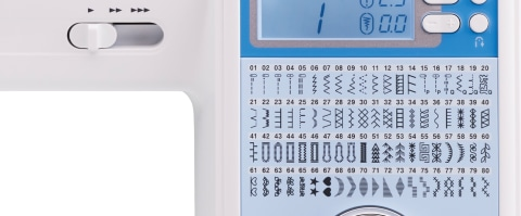 80 Built-In Sewing Stitches