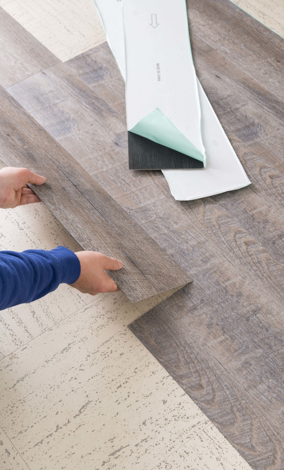 In The Vinyl Plank Department At Com, Stick Together Laminate Flooring