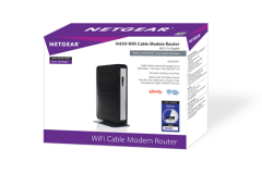 8x4 Certified for Xfinity from Comcast Renewed Spectrum Cablevision /& More Cox NETGEAR N450-100NAS N450 WiFi DOCSIS 3.0 Cable Modem Router