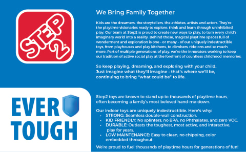 The Step2 Brand: We Bring Family Together.