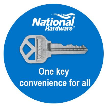 National Hardware Smartkey Security Gate Lock NEW Black