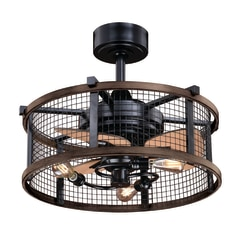 Cascadia Humboldt 21 In Oil Rubbed Bronze And Burnished Teak Led Ceiling Fan With Light Kit And Remote 3 Blade In The Ceiling Fans Department At Lowes Com
