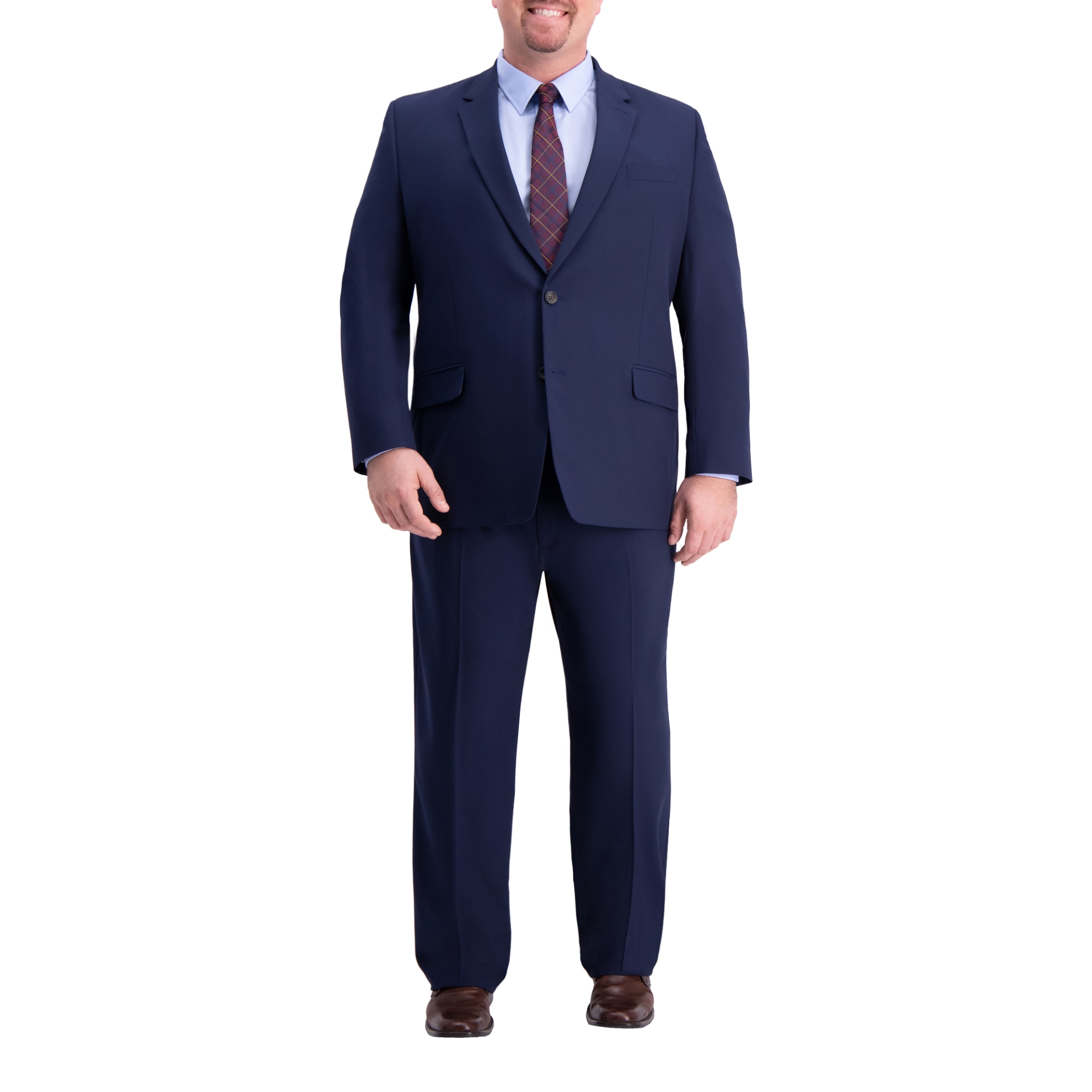 Haggar Mens 4-Way Stretch Solid Gab Slim Fit Suit Separate Coat Business Suit Jacket J.M