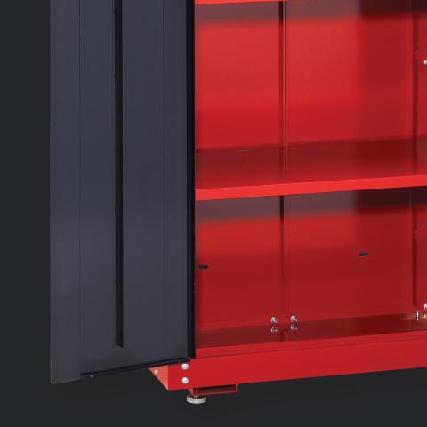 Steel Freestanding Garage Cabinet, Craftsman 72 2 Door Tall Floor Cabinet With Shelves