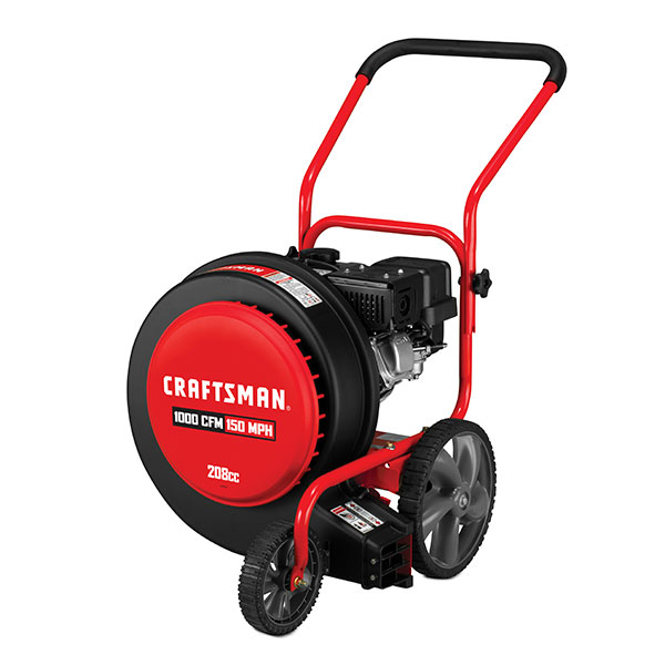 Craftsman 208 Cc 4 Cycle 150 Mph 1000 Cfm Walk Behind Gas Leaf Blower In The Gas Leaf Blowers Department At Lowes Com