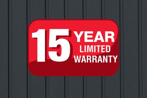 Limited 15 Year Warranty