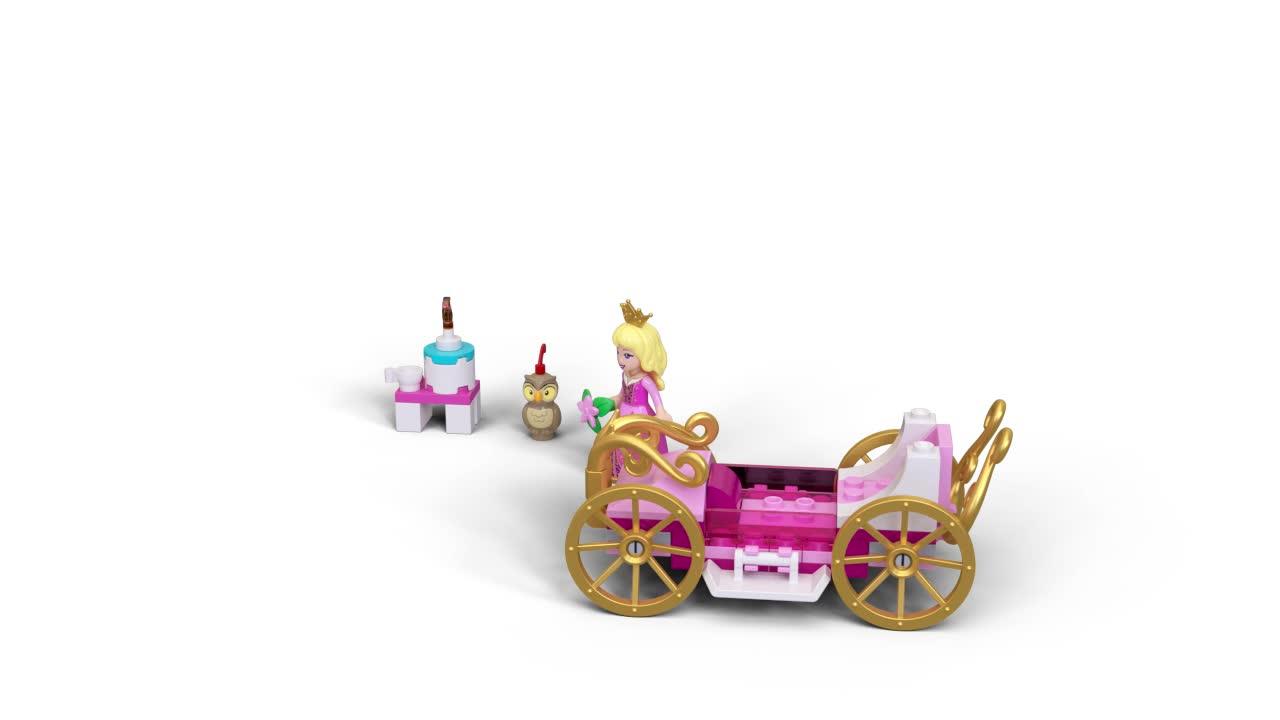 LEGO Disney Princess Aurora's Royal Carriage 43173 Building Kit New Owl Friends