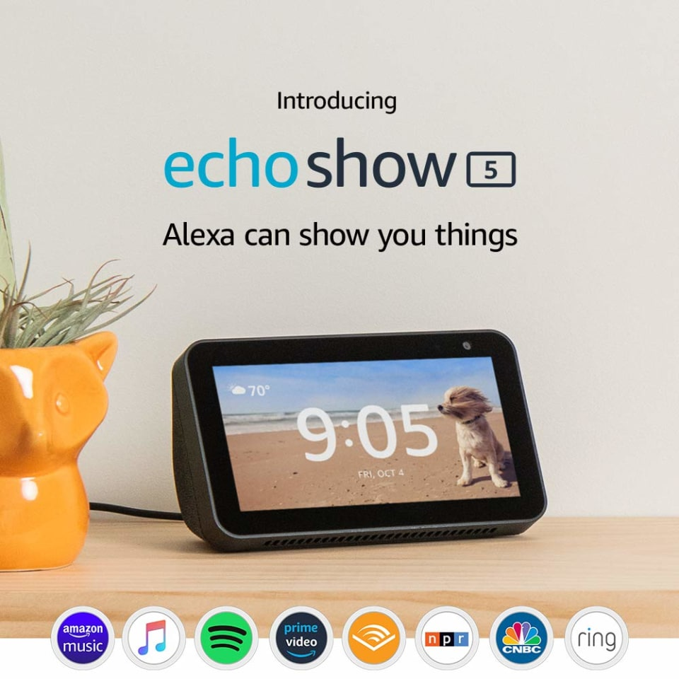 Amazon Echo Show 5 In Smart Display With Alexa Charcoal In The Smart Hubs Department At Lowes Com