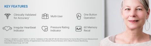 Key Features of the UB-543 Wrist Blood Pressure Monitor
