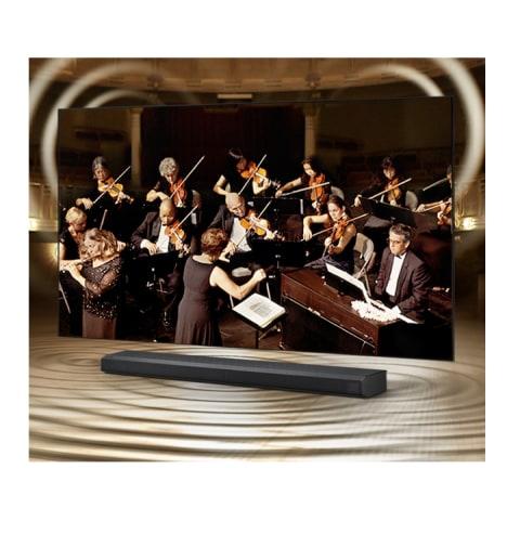 Q-Symphony: TV y barra de sonido orquestados en perfecta armonía