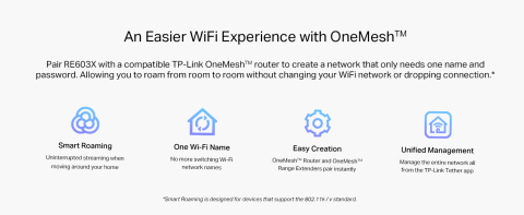 Pair range extender with a compatible router to create a mesh network