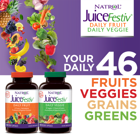 JuiceFestiv – Daily Fruit + Daily Veggie – Your Daily 46 Fruits, Veggies, Grains, Greens
