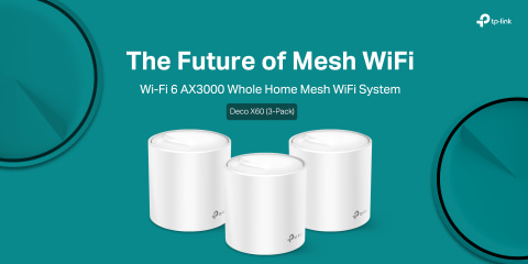 Deco AX60 (3-Pack) Next Gen AX3000 Whole Home Mesh WiFi System; The Future of Mesh WiFi