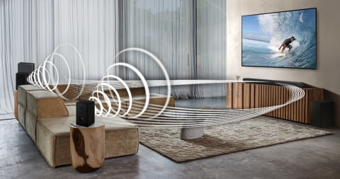 More sound without the wires - Wireless Dolby Atmos Surround Sound Compatible