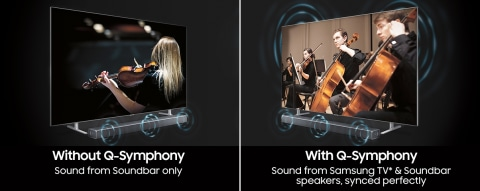 Q Soundbar & Samsung TV, in perfect harmony - Q-Symphony