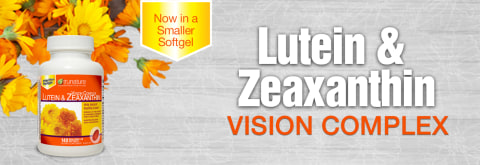 Lutein and Zeaxanthin Vision Complex now in a soy-free, smaller softgel.