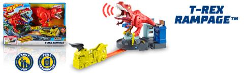 Hot Wheels City T-Rex Rampage Attacke GFH88 Rennbahn