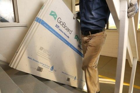 johns manville 3 ft x 5 ft x 1 2 in goboard polyisocyanurate waterproof backer board