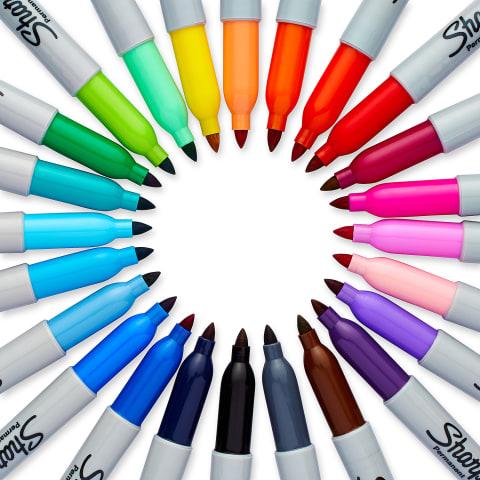 Assorted Colors Sharpie Color Burst Permanent Markers 24 Count Fine Point
