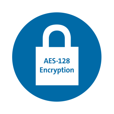Dual Wireless with 128-bit AES Encryption