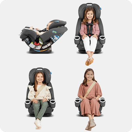 4-in-1 Car Seat for 10 Years of Use