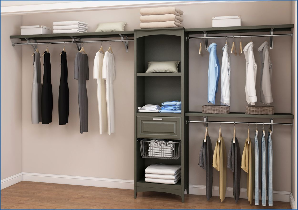 Picture of: Allen Roth 72 In W X 16 In D Antique Gray Wood Closet Shelf Kit In The Wood Closet Shelves Department At Lowes Com