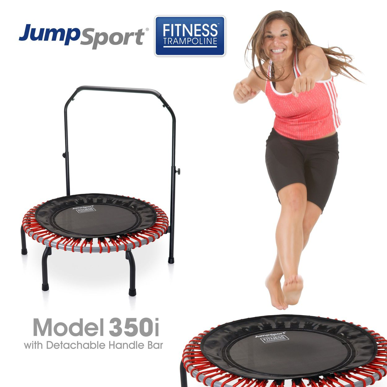 with 1-year of Streaming Video Details about  / JumpSport 550fi Folding Fitness Trampoline