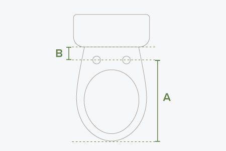 Toilet fit diagram