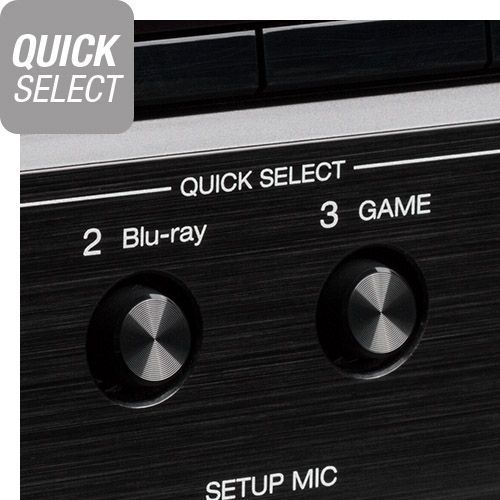 Close up of Quick select buttons