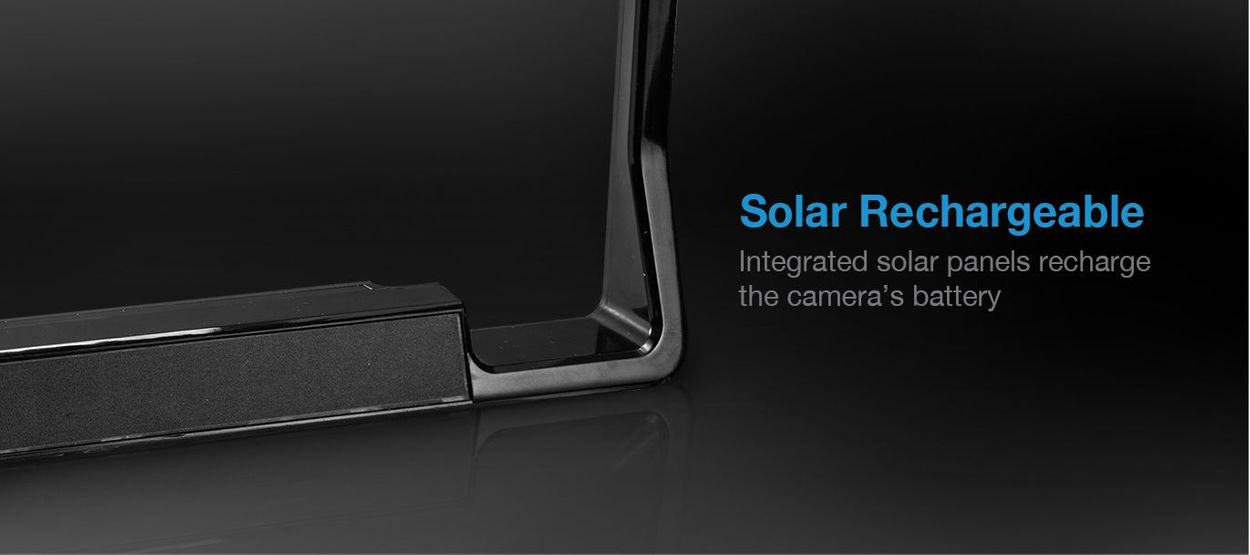 solar rechargeable backup cam