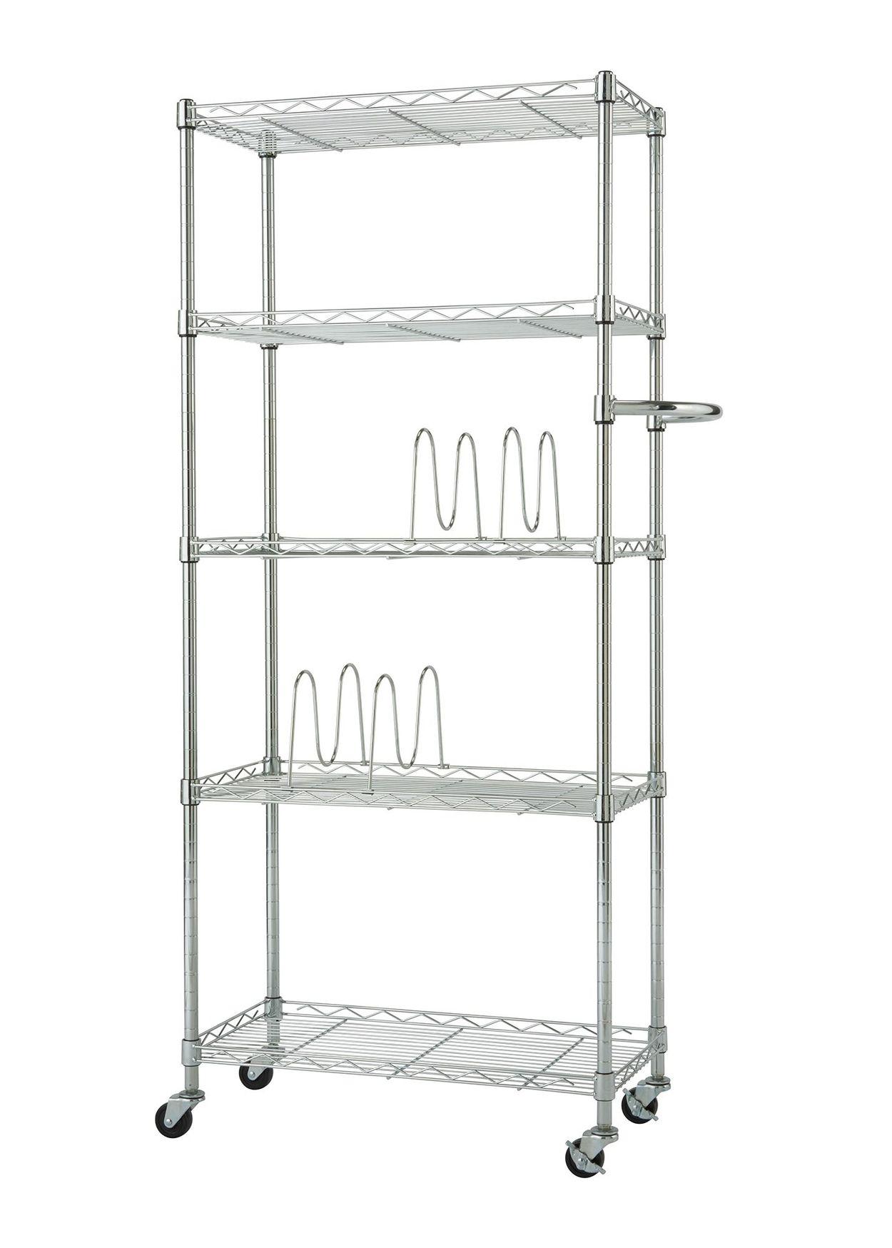 EcoStorage™ Chrome finish pantry rack