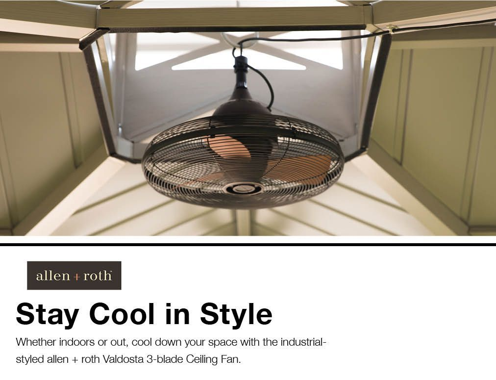 Allen Roth Valdosta 20 In Oil Rubbed Bronze Ceiling Fan 3 Blade In The Ceiling Fans Department At Lowes Com