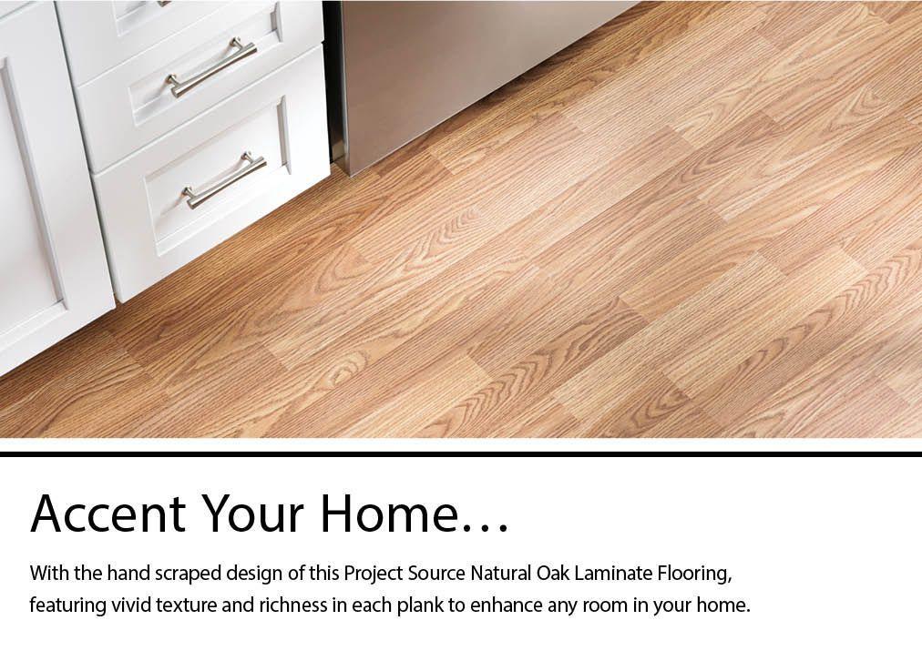 Natural Oak Laminate Flooring, Project Source Natural Oak Laminate Flooring
