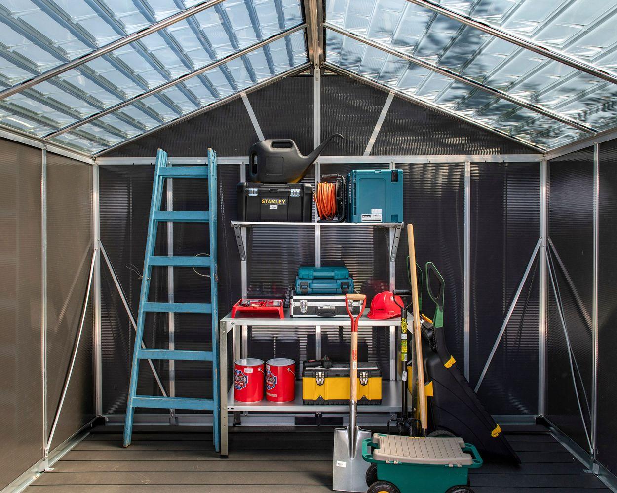 Image of inside the Yukon shed