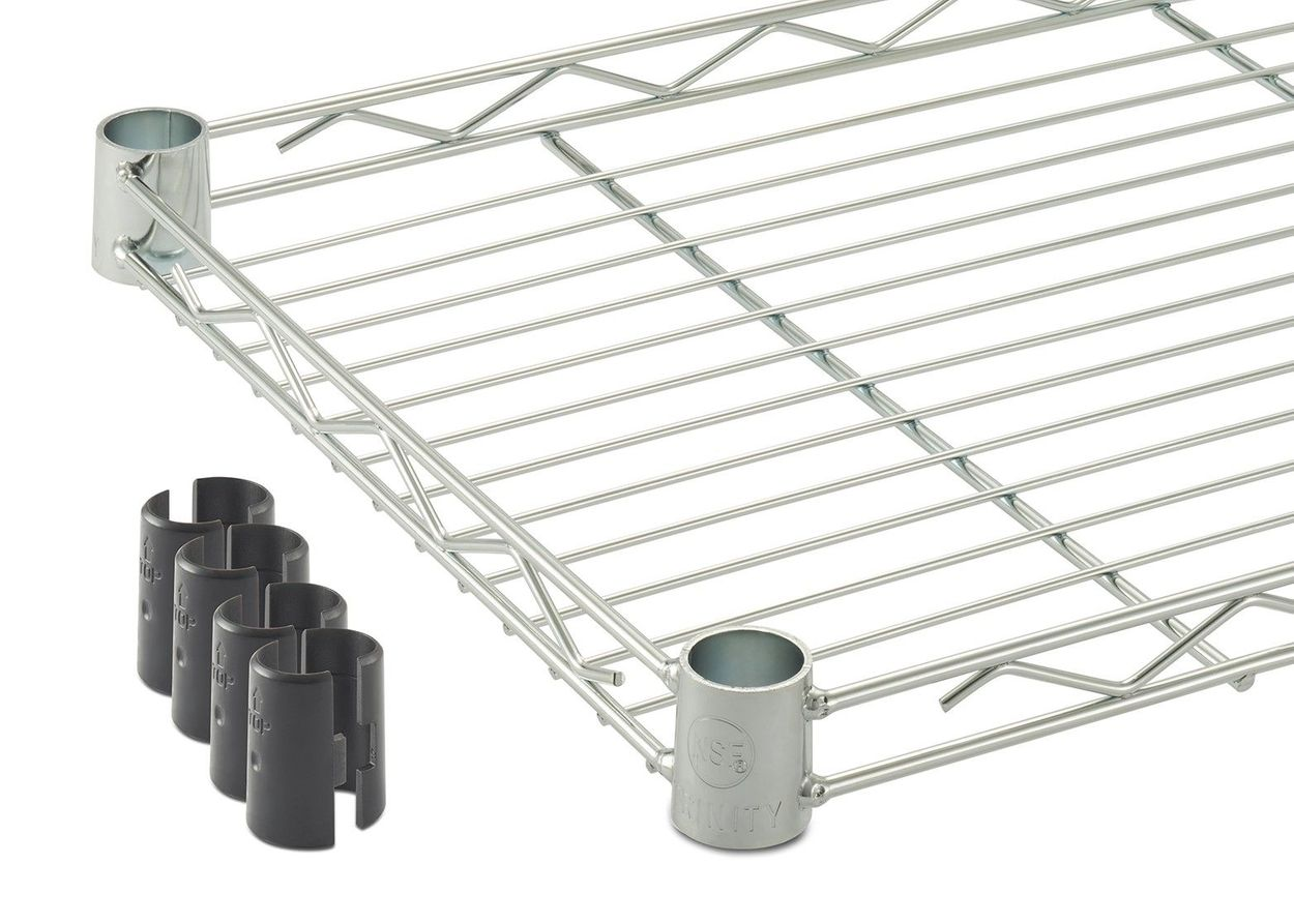 Square shelf with slip sleeves